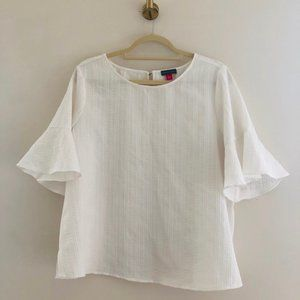Vince Camuto Stitch Fix Ivory 3/4 Sleeve Blouse L